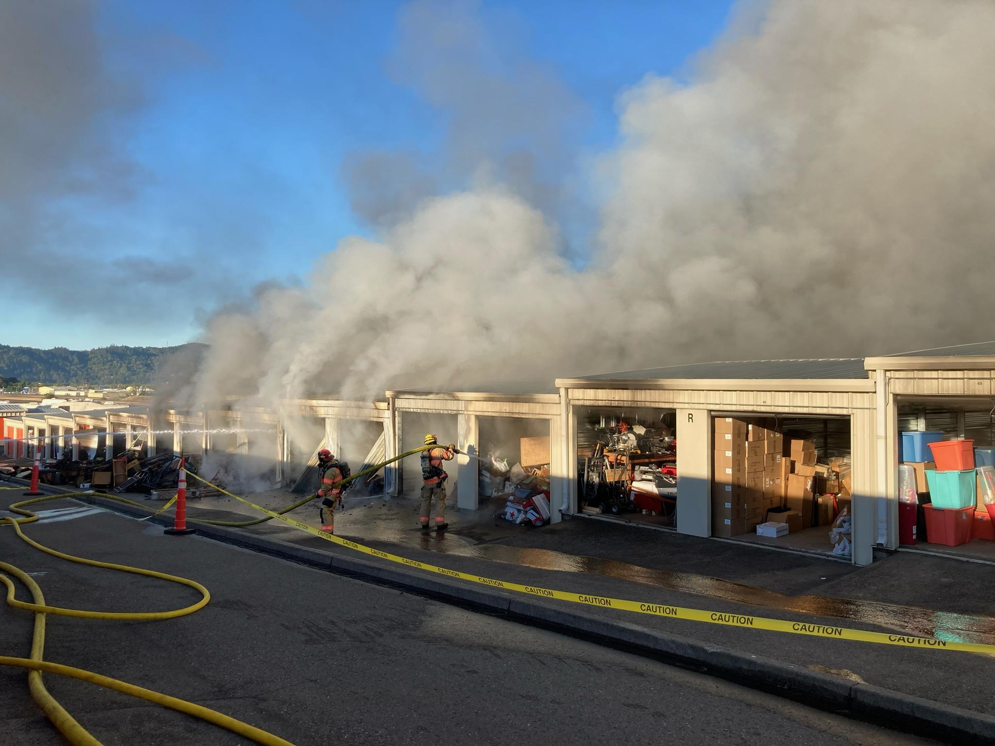 Commercial Structure Fire - Tom Thumb Mini Storage - 3221 NW Edenbower Boulevard - 8/9/20 (Photo) featured image